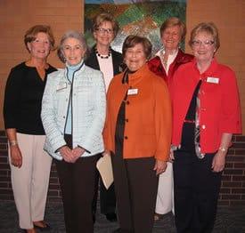 Previous award winners (l. to r.)  Judy Snowden, Susie Pugh, Sissy Clinton, Judy Grundfest, Charlotte Gadberry and Jo Ellen Ford.