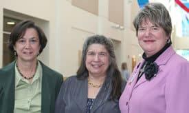 Carol Benner (center), of Washington D.C., praised Arkansas' nursing home improvement efforts led by UAMS' Cornelia Beck (left) and Claudia Beverly.