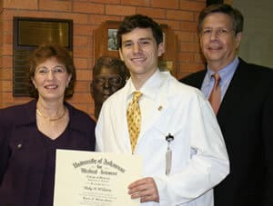 The Dr. Horace N. Marvin Award ceremony was attended by Blake Williams' parents, Cindy and Doyle Williams of Little Rock.