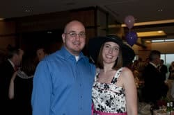 Gus and Elizabeth Fabrega pose for a snapshot at the event.