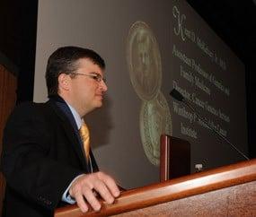 Dr. McKelvey speaks