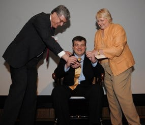 Kent McKelvey receives medal.