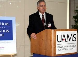 Chancellor Dan Rahn speaks at the Wall of Hope dedication.