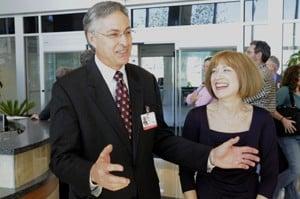 New UAMS Chancellor Dan Rahn, M.D., and his wife Lana meet employees during a Nov. 2 reception.