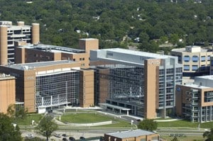The $198.4 million, 540,000-square-foot new hospital opened in January 2009.