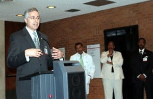 UAMS Chancellor Dan Rahn, M.D., speaks at the opening of the UAMS Center for Diversity Affairs.