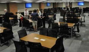 The new center can accommodate up to 198 for team-based learning.