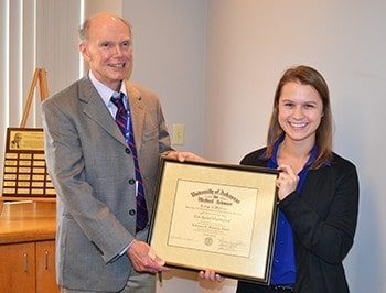 Erin Weatherford Receives Scheving Award | UAMS News