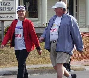 Jim Brown decided 5K events with his daughter, like this one in 2009, would be a lot easier if he didn't weigh 307 pounds.