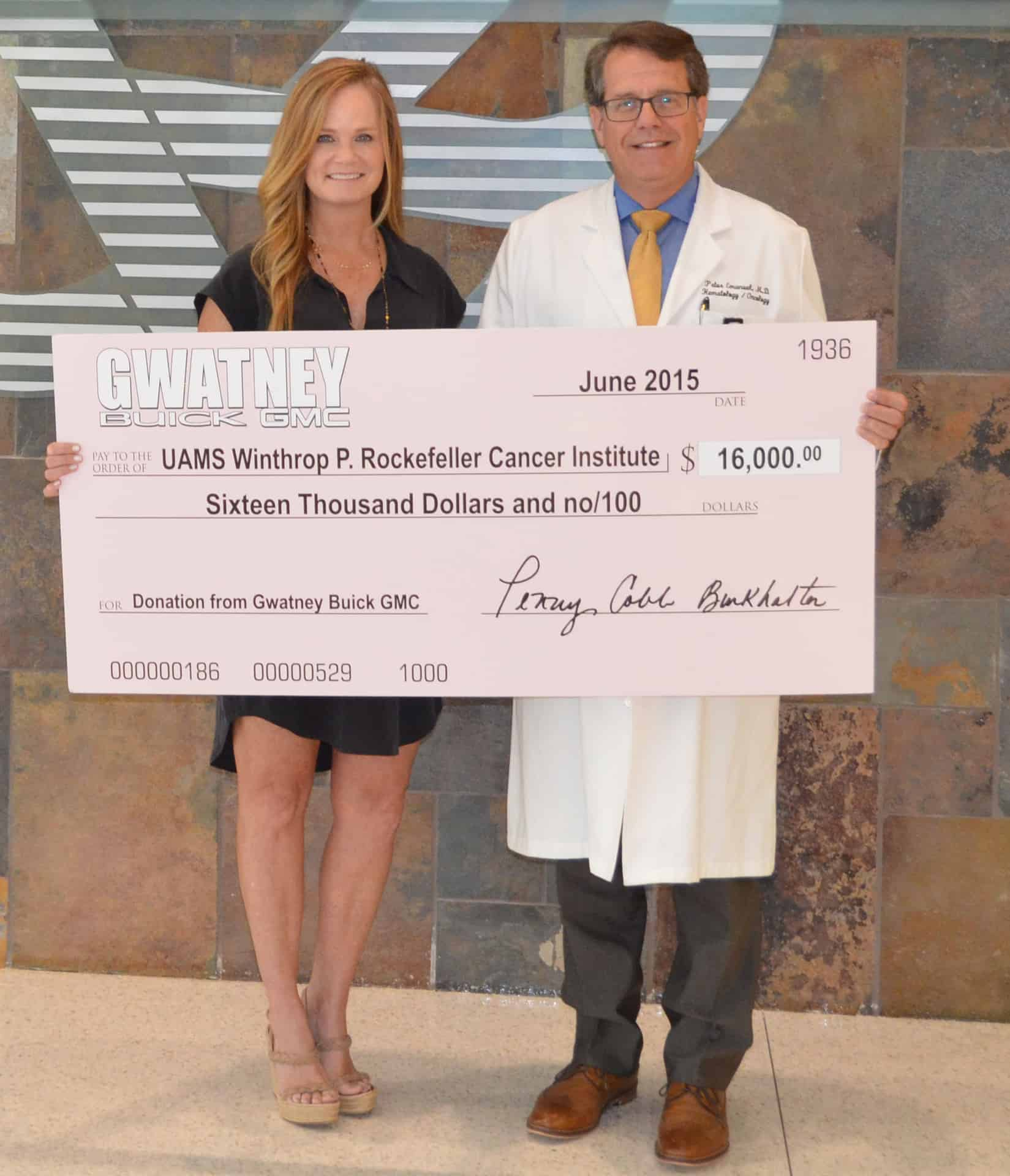 Gwatney Buick Gmc >> Donation From Gwatney Buick Gmc Benefits Breast Cancer