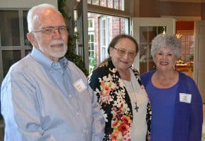 State Rep. Sheilla Lampkin (center) visited with Robert and Sally Kirst during the Oct. 20 reception.