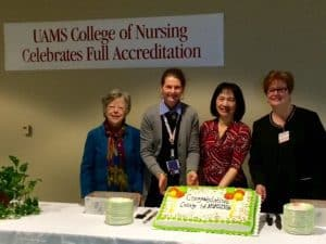 (From left to right) Anita Mitchell, Ph.D., R.N., Claudia Barone, Ed.D., R.N., Pao-Feng Tsai, Ph.D., R.N., and Donna Middaugh, Ph.D., R.N.
