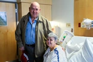 James Lemaster stayed with his wife, Mary, during her hospitalization for a stroke. A former health care professional, James says he was very pleased with the quality of treatment from doctors, nurses and staff.