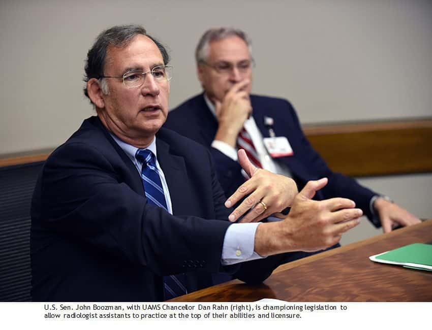 Boozman At Uams To Support Radiologist Assistants Uams News