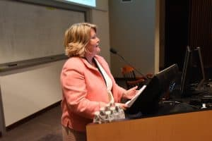 Cowan highlighted Linda Hodges' impact on the College of Nursing and said she hopes to inspire others as Dr. Hodges has.
