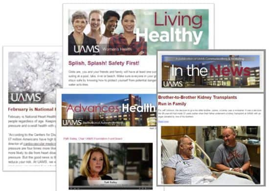 Collage of UAMS Newsletters