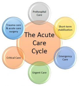 Graphic of the acute care cycle