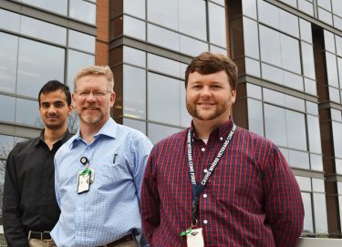 Bradley Martin, center, Pharm.D., Ph.D., is the senior author of a new study on opioid use published recently by the Centers for Disease Control and Prevention. Anuj Shah, left, and Corey Hayes, Pharm.D., right, co-authored the study with Martin. (2017 file photo)