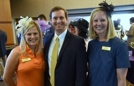 UAMS Consortium members (from left) Erin Marcusson and husband Jeff, and Laura Connor.