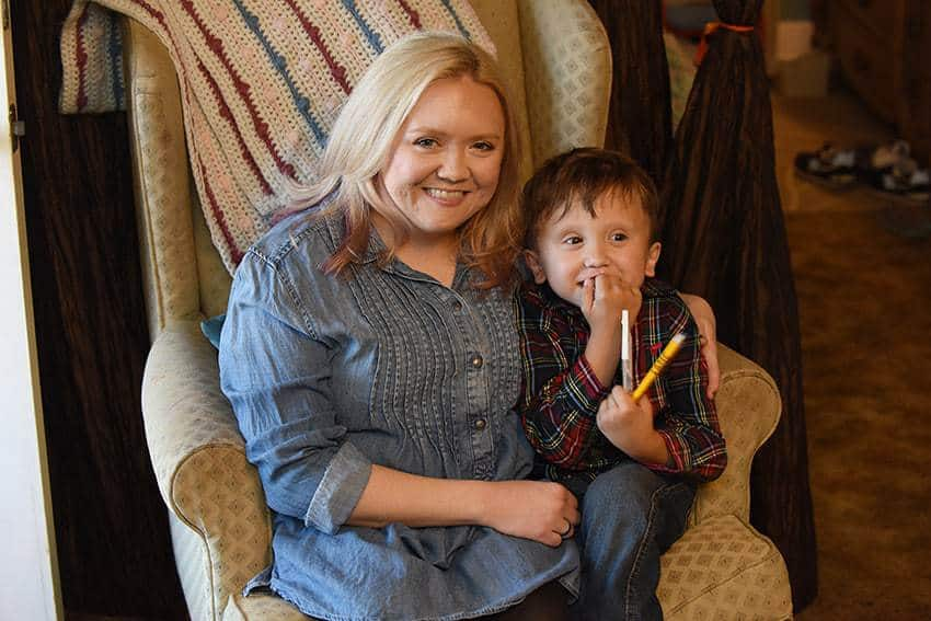 Laura Wright was diagnosed with campomelic dysplasia while she was pregnant with her son, Lane. UAMS genetic counselor Shannon Barringer, M.S., helped Wright understand the diagnosis and the ramifications for her pregnancy.