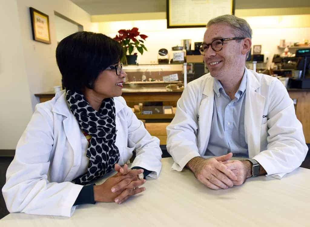 Dr. Tariq talking to Cagle