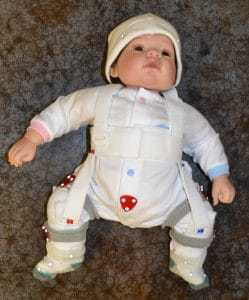 Dummy baby in orthopaedic device