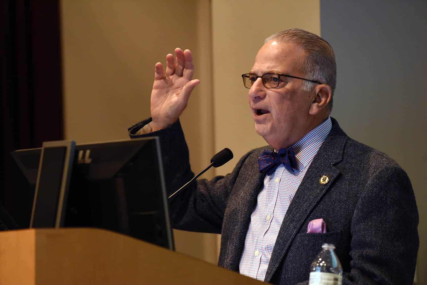 Hal Kushner, M.D., recounted his five and a half years as a prisoner of war during the Vietnam War to UAMS faculty, staff and students Feb. 7.