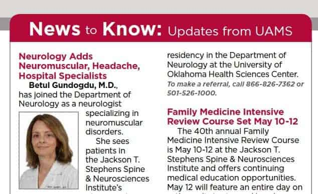 News to Know: Updates from UAMS | UAMS News