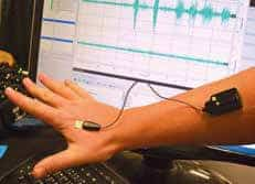 Electromyography sensors – to detect muscle activity – is one of several technologies in use at the gait and motion-detection laboratory that allow researchers insight into human movement in a variety of contexts.