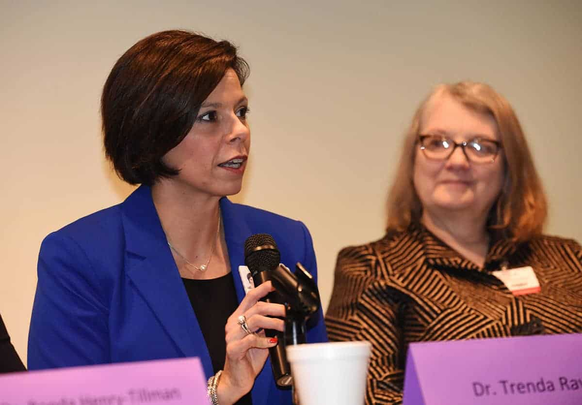 Trenda Ray, Ph.D., A.P.R.N., said avoiding complacency was one of the keys to moving gender equity issues toward progress.