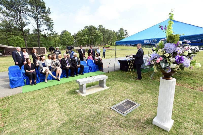 UAMS and Roller Funeral Homes dedicated the Love Lives Memorial at Riverwood Memorial gardens Cemetery in Maumelle in remembrance of pregnancy and infant loss.
