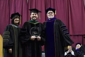 Jerad Gardner, M.D., received the Chancellor's Award for Teaching Excellence.