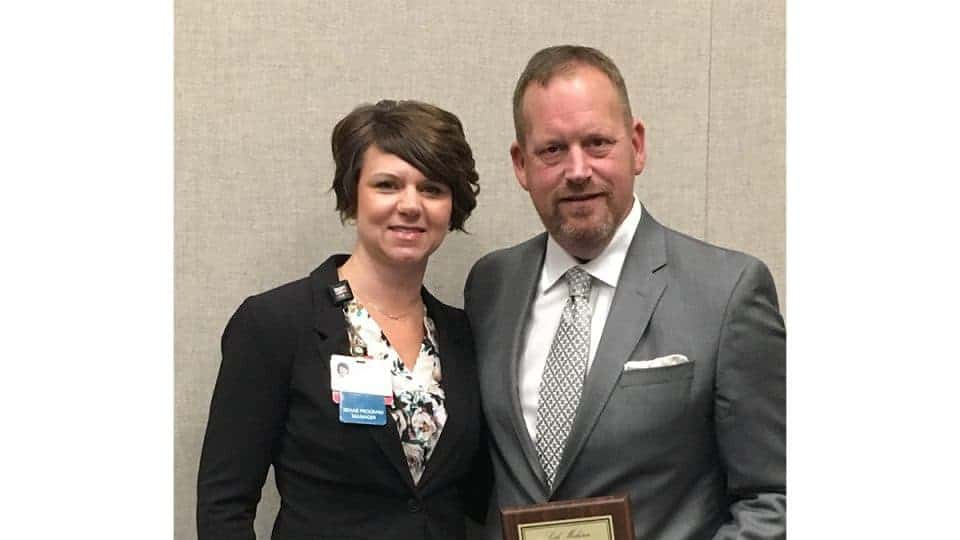 At UAMS, Seth Mohorn found people like Amanda Davis (left) who afforded him the opportunity to be part of the decision-making process.