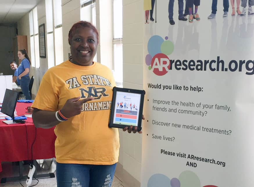 Anita Rose, of North Little Rock, said her mother's breast cancer inspired her to join the ARresearch.org volunteer registry.