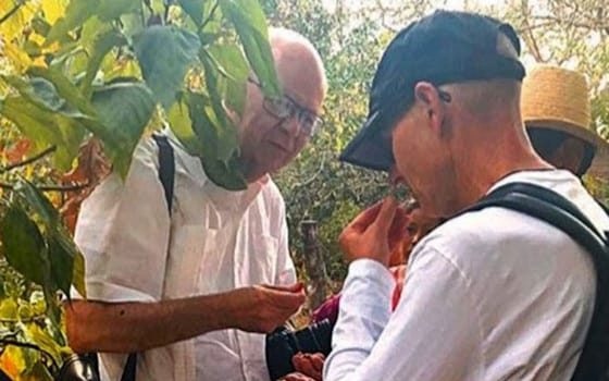 "<p>Cesar Compadre, left, and Dean Keith Olsen examine and discuss a medicinal plant growing in the Bolivian countryside.</p> <div><a class=""more"" href=""https://news.uams.edu/2018/08/07/pharmacy-dean-professor-visit-to-bolivia-plan-for-exchange-program/compadre-plants/"">Read more</a></div>"
