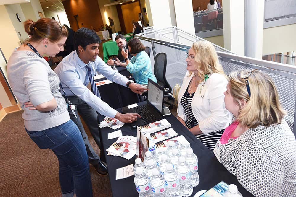 Faculty members were able to browse more than 30 booths showcasing various services available at UAMS.