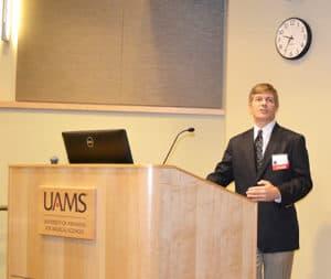 Dr. Martin Radvany presenting lecture