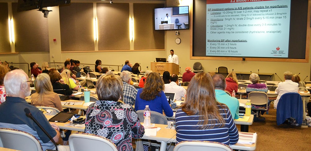 About 160 physicians, nurses and physical therapists came to the first Neurosciences Conference at UAMS.