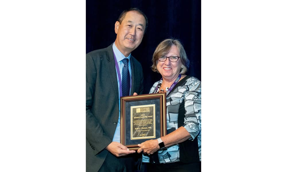 Ruth Thomas, M.D., is the first recipient of the American Orthopaedic Foot & Ankle Society's Women's Leadership Award. (Photo courtesy of American Orthopaedic Foot & Ankle Society)