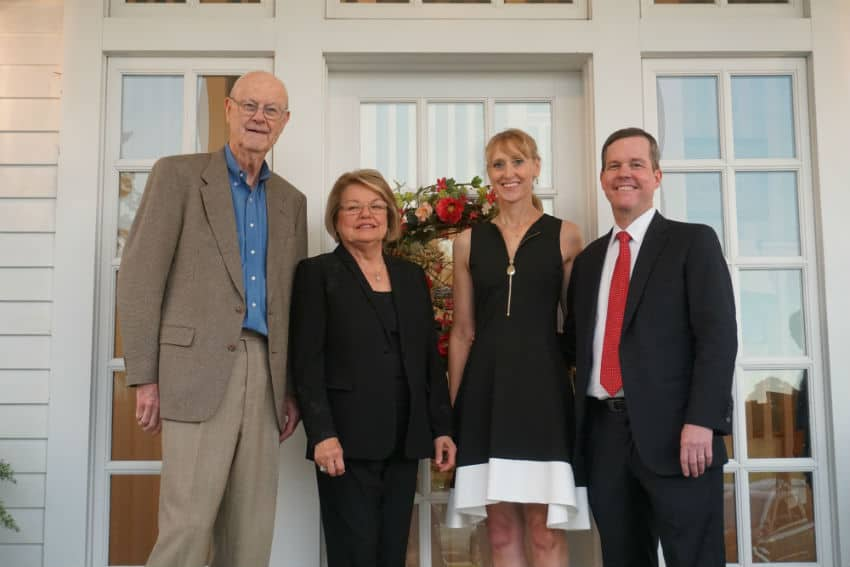 Tommy and Sylvia Boyer hosted UAMS Chancellor Cam Patterson, M.D., MBA and wife Kristine Patterson, M.D., at the latest Friends of UAMS event in Fayetteville.