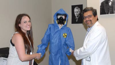 Rachel Pahls, M.D., and Kedar Jambhekar, M.D., of the UAMS Radiology Department, created an escape room to engage new residents in learning about the medical specialty.