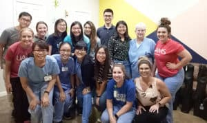 Kaohsiung nursing and pharmacy students visit the College of Nursing Canvas Foot Clinic.