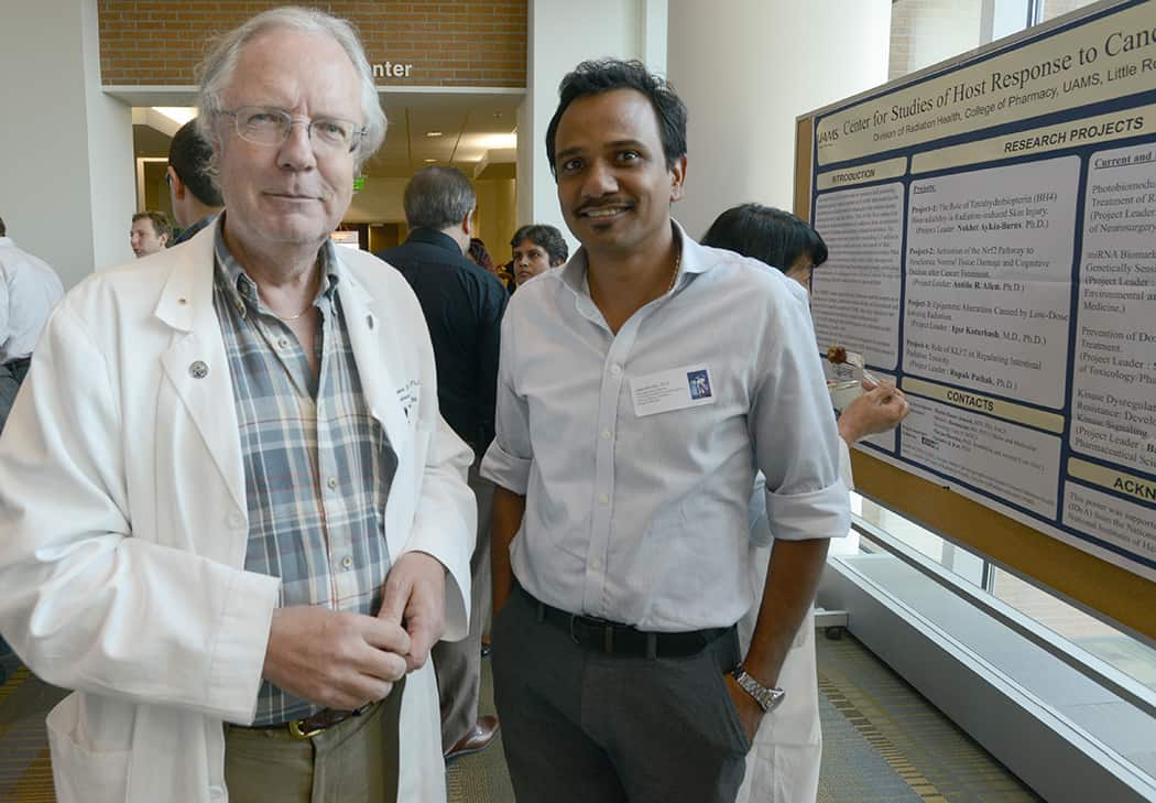 Researchers at event