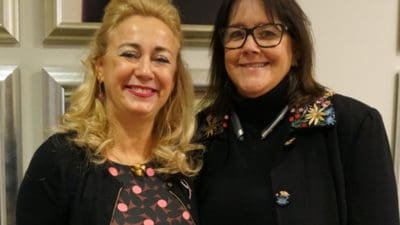 Isabel Rubio, M.D., Ph.D., with Suzanne Klimberg, M.D., Ph.D., said Klimberg and UAMS changed her life.