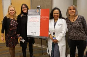 Rubio, Klimberg, Ronda Henry-Tillman, M.D., and Maureen McCarthy, nurse practitioner, after Rubio presented the Suzanne Klimberg Endowed Lectureship in Breast Oncology.