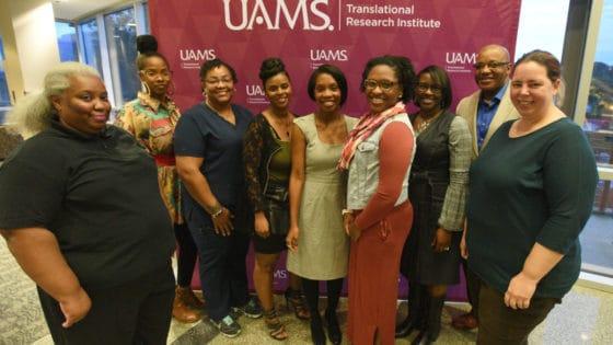 The fall 2018 Community Scientist Academy graduates are (l-r): Christine Murrell, Karen Boone, NaKisha Holmes, Sherita Williams, Sarah Pilcher, Jerusha Wynn, Dr. Julia Chears-Young, Jay Young and Ferrin Lunestad.