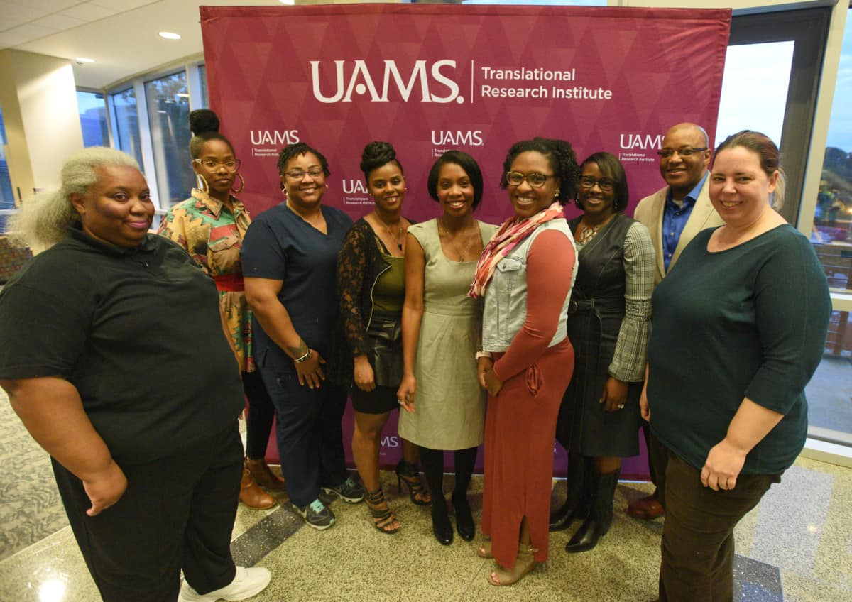 The fall 2018 Community Scientist Academy graduates are (l-r): Christine Murrell, Karen Boone, NaKisha Holmes, Sherita Williams, Sarah Pilcher, Jerusha Wynn, Dr. Julia Chears-Young, Jay Young and Ferrin Lunestad.