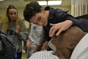 Students explored the UAMS Simulation Center and learned about training mannequins during PhUn Day.