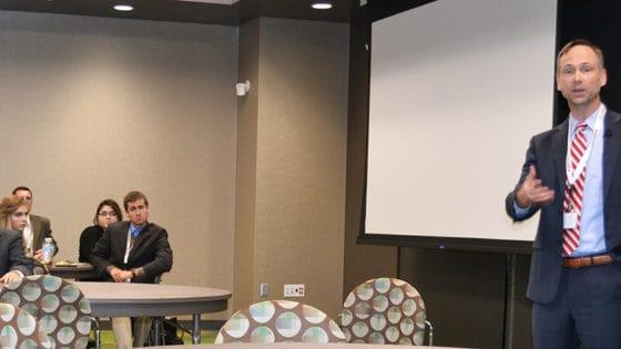 Arkansas Surgeon General Greg Bledsoe, M.D., speaks at the Arkansas Life Sciences Summit in Conway