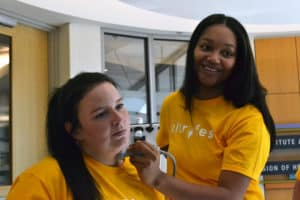 Medical students got hands-on experience with ultrasound equipment during Ultrafest.
